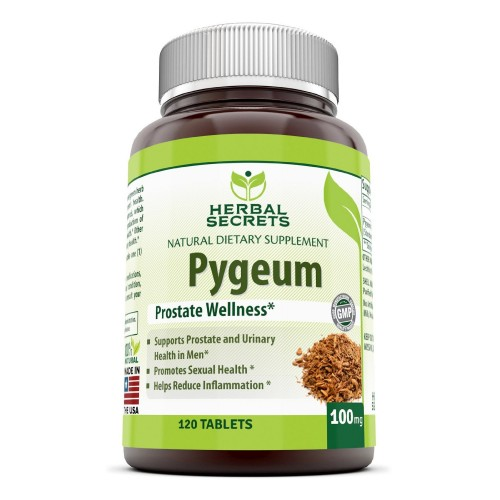 Herbal Secrets African Pygeum Extract - 100mg Pure Pygeum Africanum Bark Capsules - Supplement Standardized to 12% Phytosterols - 120 Capsules Per Bottle