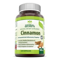 Herbal Secrets Cinnamon 500 Mg 120 Capsules - Supports Heart/circulatory Health.* Supports the Metabolism of Sugars and Starches in Your Diet.* Helps Support Fat Metabolism.*