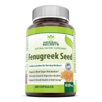 Herbal Secrets Fenugreek Seed Supplement - 610mg Capsules Made with Pure Seed Extract - 180 Pills Per Bottle - All Natural Supplements to Support Healthy Lactation, Digestive Health and Overall Well-being