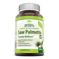 Herbal Secrets Saw Palmetto Supplement - 320mg Soft Gel Capsules - Standardized Extract From All Natural Berries with 85% to 95% Fatty Acids & Sterols - Best Choice of Supplements for Prostate Health, Hair Loss in Men & More - 90 Pills Per Bottle