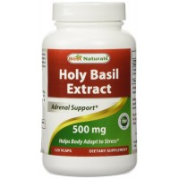 Holy Basil Extract 500 mg 120 VCaps by Best Naturals - Supports Overall Wellness