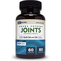 KRILL OIL Joints & Bones Formula by DailyNutra with Vitamin D3, Omega-3, EPA, DHA, Astaxanthin, Zinc & Strontium. Clinically Shown to Support Joint Health, Strong Bones & Teeth. by DailyNutra
