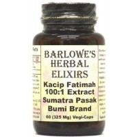 Kacip Fatimah Extract 100:1 - 60 325mg VegiCaps - Stearate Free, Bottled in Glass