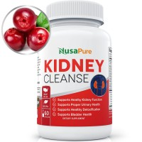 Kidney Cleanse with Organic Cranberry Extract: Supports Bladder Control & Urinary Tract Health: All natural herbs for Kidney Healh, Detox and Flush: 100% Money Back Guarantee
