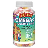L'il Critters Omega-3 DHA Assorted Fruit - 120 Gummies