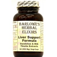Liver Support - 60 550mg VegiCaps - Stearate Free, Bottled in Glass