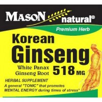Mason Natural Korean Ginseng 518 Mg White Panax Ginseng Root Capsules - 100 Capsules
