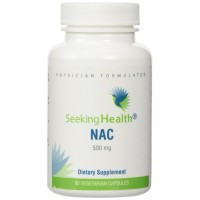 NAC | 500 mg N-Acetyl-L-Cysteine | Powerful Detoxifying Action| 90 Easy-To-Swallow Capsules | Free of Common Allergens | Seeking Health