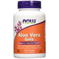 NOW Foods Aloe Vera Gels, 10000mg, 100 Softgels for Digestive Health