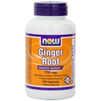 NOW Foods Ginger Root, 100 Capsules / 550mg