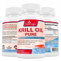 Natrogix 1000mg Antarctic Krill Oil with 540mg Omega-3, Real Highest Potency of Omega-3 Fatty Acids EPA & DHA on the Market (60 Count)