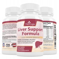 Natrogix Herbal Liver Support Supplement - 200 mg Milk Thistle Extract W/ Beet Root, Artichoke, Chanca Piedra, Dandelion, Chicory Root, Yarrow etc. Composite Formula Helps Liver Health(60 Capsules).