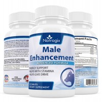 Natrogix Male Enhancement & Testosterone Booster Pills - Tongkat Ali Powder, Maca Extract, Zinc w/ Proprietary Formula to Increase Male Energy Level, Sex Drive & Stamina, Made in USA (60 Count).