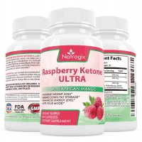 Natrogix Raspberry Ketones Extract - Best Antioxidant, African Mango w/ Proprietary Formula. Appetite Suppressant and Metabolism Booster & Fat Burner & Carb Blocker Made in USA (60 Capsules).