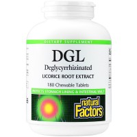 Natural Factors Dgl Licorice Chewable, 400mg, 180 Tablets