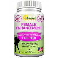 Natural Female Libido Enhancer (120 Capsules) Sexual Enhancement Formula w/ Horny Goat Weed, Maca Root, Tongkat Ali - Supplement Pills for Women to Boost Sex Drive, Pleasure, Low Libido & Arousal