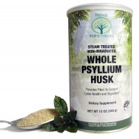 Natural Nutra Whole Psyllium Husk Powder, Soluble and Insoluble Fiber, 12 Oz, 81 Servings