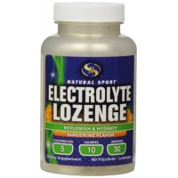 Natural Sport Electrolyte Lozenge Replenish & Hydrate Tangerine Flavor 60 FizzActiv Lozenges