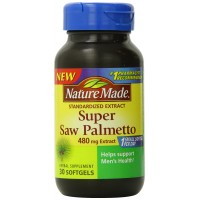 Nature Made Super Saw Palmetto Extract Liquid Softgel, 480 mg, 30 Count for Prostate Health