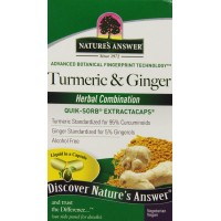 Nature's Answer Extractacaps Nutritional Supplement, Turmeric and Ginger, 90 Count