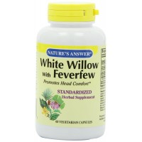 Nature's Answer White Willow with Feverfew Vegetarian Capsules, 60-Count