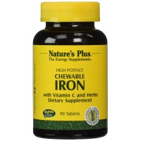 Nature's Plus - Chewable Iron W/ Vit C, 90 chewable tablets