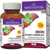 New Chapter Iron Food Complex, Iron Supplement with Organic Non-GMO Ingredients  - 60 ct
