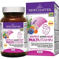 New Chapter Perfect Postnatal Vitamin, Lactation Supplement with Vitamin D3 + B Vitamins + Organic Non-GMO Ingredients - 192 ct