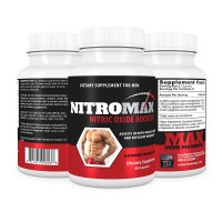 NitroMax Nitric Oxide Booster- Get Pumped And Grow Muscle Fast- Powerful Pre Workout Supplement- Increased Vaso-dilation for Expanding Blood Vessels- Synthesis of Nitric Oxide- Hardening of Muscles- Increase In Strength- Cutback In Recovery Time- Better A