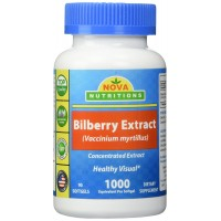Nova Nutritions Bilberry Extract 1000 mg 90 Capsules