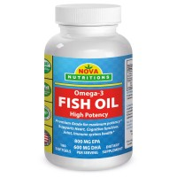 Nova Nutritions Omega-3 Fish Oil, 180 Softgels