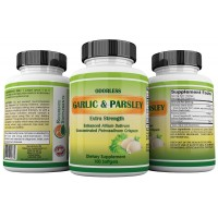 Odorless Garlic & Parsley Supplements ★ High Potency Organic Garlic Pills For Blood Pressure, Cholesterol, Heart Health & Immune Support ★ Allium Sativum & Allicin ★ GMP ★ USA Made ★ 100% Guaranteed