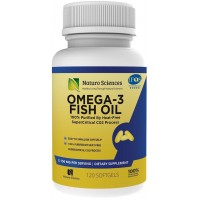 Omega 3 Essential Fatty Acid Fish Oil Supplement By Naturo Sciences - Best DHA 900mg and EPA 600mg Per Serving - Supercritical Extraction Process for Quality Purified Omega-3 Supplements 120 Soft Gels