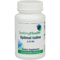 Optimal Iodine   6.25 mg Of Natural Pure Iodine   90 Easy-To-Swallow Vegetarian Capsules   Free Of Common Allergens   Seeking Health