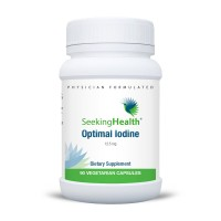 Optimal Iodine   Provides 12.5 mg Of Natural Pure Iodine As Molecular Iodine, Sodium Iodide and Potassium Iodide  90 Easy-To-Swallow Vegetarian Capsules   Physician Formulated   Free Of Common Allergens   Seeking Health