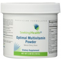 Optimal Multivitamin Powder | Provides Potent Bioavailable Nutrients for Support in Immunity, Digestion, Energy and Antioxidant Protection | Natural Cherry Flavor | Non-GMO | Soy-Free | Gluten-Free | Physician Formulated | Seeking Health