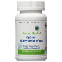 Optimal Multivitamin With Iron | Multiple Vitamin, Mineral, Trace Element Supplement | Provides Well-Tolerated, Highly Bioavailable Nutrient Forms To Maximize Benefit Absorption | 120 Easy-To-Swallow Vegetarian Capsules | Free of Magnesium Stearate | Phys