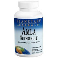 PLANETARY HERBALS Amla Super Fruit Rejuvenating Antioxidant Supplement, 120 Count