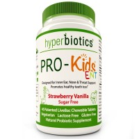 PRO-Kids ENT: Children's Oral Probiotics (Chewable & Sugar Free) - Uniquely Formulated for your Child's Oral & Ear Nose and Throat Health (Strawberry Vanilla) - 45 Chewable Tablets