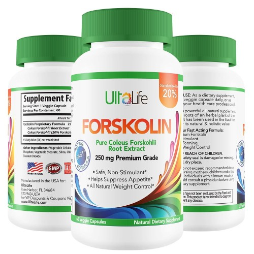 Pure Forskolin For Weight Loss By Ultalife Best Coleus Forskohlii 250mg Fat Burner Powerful Diet Pills That Work For Men Women To Lose Weight