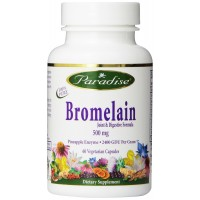 Paradise Herbs Bromelain Joint and Digestive Vegetarian Capsules, 60 Count