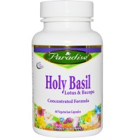Paradise Herbs Holy Basil Lotus and Bacopa -- 60 Vegetarian