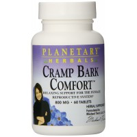 Planetary Herbals Cramp Bark Comfort Tablets, 60 Count