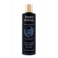 Polished Gentleman Beard Growth and Thickening Shampoo - With Organic Beard Oil - For Best Beard Look - For Facial Hair Growth - Beard Softener for Grooming - 8oz Respectable Beard