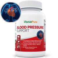Potent Blood Pressure Supplement with Hawthorn Berry, Natural Diuretics for High Blood Pressure and Hypertension: Herbs and Vitamins for High Blood Pressure: 90 Capsules: 100% Money Back Guarantee