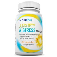 Premium Anxiety & Stress Relief Supplement - Natural Fast Acting Formula Promotes Calm, Boosts Mood, Supports Relaxation & Reduces Panic. 2 Month Supply With Ashwagandha & GABA