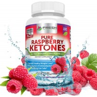 Pure 100% Raspberry Ketones MAX 1000mg Per Serving ✮ 3 MONTH SUPPLY ✮ Powerful Weight Loss Supplement ✮ Shrinks Fat Cells & Provides Energy Boost for Weight Loss ✮ 180 Capsules by Fresh Healthcare