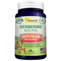 Pure Berberine 900mg Supplement - 180 Capsules, Natural Berberine Hydrochloride HCL Plus, Max Strength Almost 1000mg (2x 450mg), Potent Extract for Healthy Blood Sugar Levels & Blood Glucose