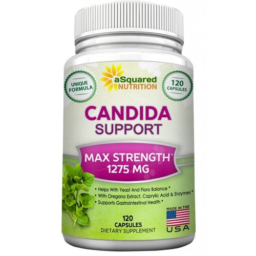 Pure Candida Cleanse Supplement - 120 Capsules - Natural Candida Support & Detox Complex with Probiotics, Herbs & Antifungals, Best Treatment Pills to Clear & Kill Yeast Infection & Overgrowth Now