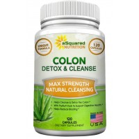 Pure Colon Cleanse for Weight Loss - 120 Capsules, Max Strength, Natural Colon Detox Cleanser, Colon Cleansing Diet Supplement Blend for Digestive Health, Flush Body Toxins, Diet Pills for Men & Women
